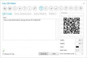 Enlarge Easy QR Maker Screenshot