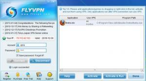 Enlarge FlyVPN Screenshot