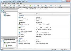 Enlarge Trogon Network Inventory Screenshot