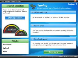 Enlarge FREE Internet Tuner Screenshot