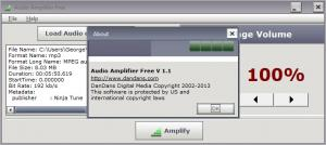 Enlarge Audio Amplifier Free Screenshot