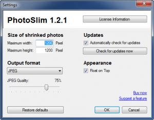 Enlarge PhotoSlim Screenshot