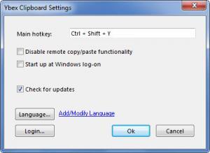 Enlarge Ybex Clipboard Screenshot