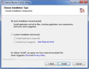 Enlarge Hanso Burner Screenshot