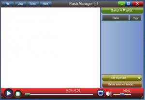 Enlarge Flash Manager Screenshot
