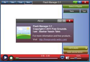 Enlarge Flash Manager Screenshot