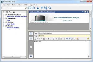 Enlarge Portable Tag Notes Screenshot