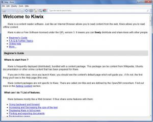 Enlarge Kiwix Screenshot
