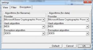 Enlarge Professional Portable Encryptor Screenshot
