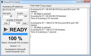 Enlarge Homysoft Port Scanner Screenshot