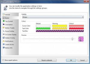 Enlarge BattCursor Screenshot
