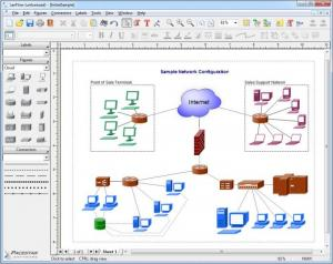 Enlarge LanFlow Net Diagrammer Screenshot