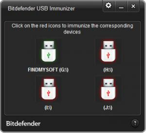 Enlarge Bitdefender USB Immunizer Screenshot