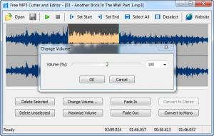 Enlarge Free MP3 Cutter and Editor Screenshot