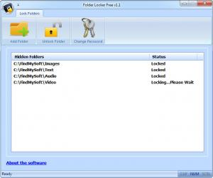 Enlarge Folder Locker Screenshot