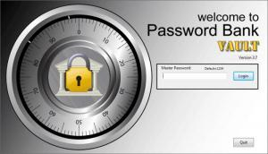 Enlarge Password Bank Vault Screenshot