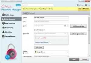 Enlarge Chica Password Manager Screenshot