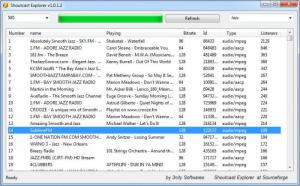 Enlarge Shoutcast Explorer Screenshot