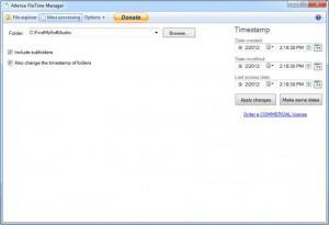 Enlarge Atlence FileTime Manager Screenshot