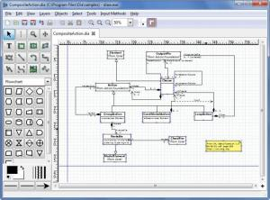 Enlarge Dia Diagram Editor Screenshot