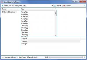 Enlarge Exact Duplicate Finder Screenshot