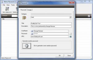 Enlarge Memo Password Screenshot