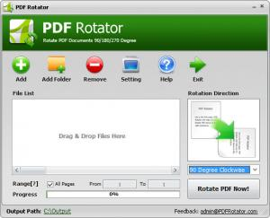 Enlarge PDF Rotator Screenshot