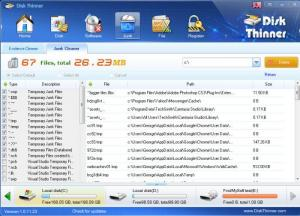 Enlarge Disk Thinner Screenshot
