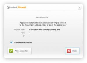 Enlarge Hauberk Firewall Screenshot