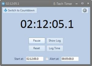 Enlarge E-Tech Timer Screenshot