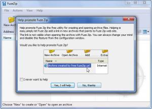 Enlarge FuzeZip Screenshot