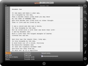 Enlarge quick Memorizer Screenshot