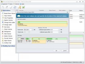 Enlarge Macrorit Disk Partition Expert Screenshot