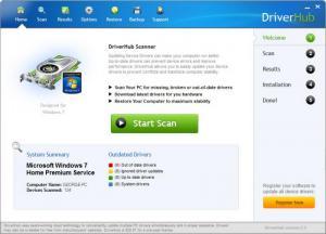 Enlarge DriverHub Screenshot