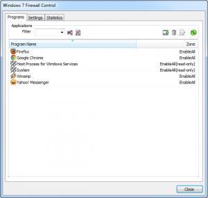 Enlarge Windows 7 Firewall Control Screenshot