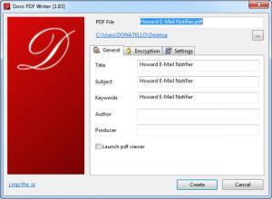Enlarge Doro PDF Writer Screenshot