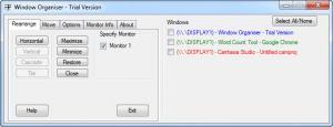 Enlarge Window Organiser Screenshot
