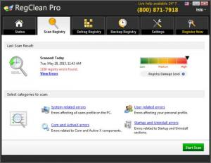 Enlarge RegClean Pro Screenshot