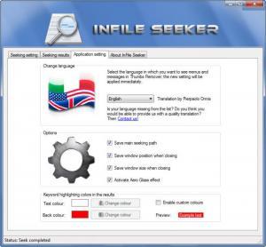 Enlarge InFile Seeker Screenshot