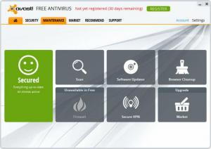 Enlarge Avast Free Antivirus Screenshot