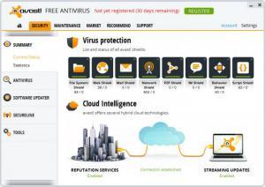 Enlarge Avast Free Antivirus Screenshot