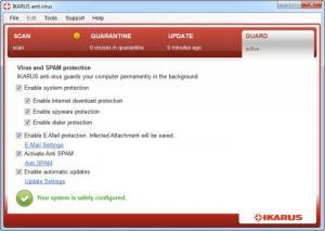 Enlarge IKARUS anti.virus Screenshot
