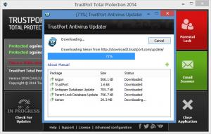 Enlarge TrustPort Total Protection Screenshot