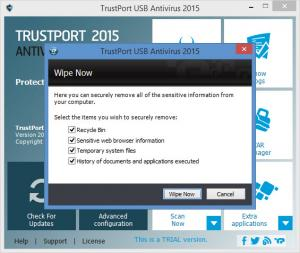 Enlarge TrustPort USB Antivirus Screenshot