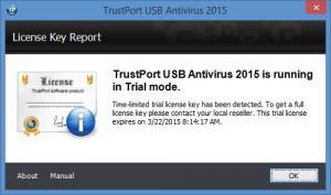 Enlarge TrustPort USB Antivirus Screenshot