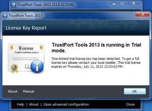 Enlarge TrustPort Tools Screenshot