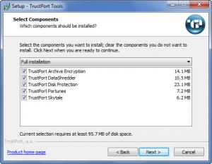 Enlarge TrustPort Tools Screenshot