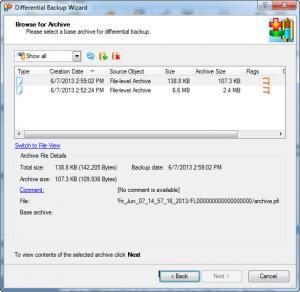 Enlarge Paragon Backup & Recovery Screenshot