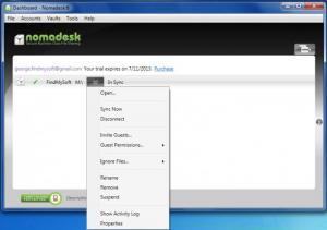 Enlarge Nomadesk Screenshot