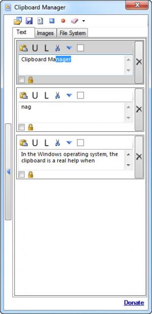 Enlarge Clipboard Manager Screenshot